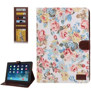 plegable-con-funcion-Pie-Para-iPad-2-iPad-3-iPad-4-FLOWERS-FLORES-ROSAS-BLANCO