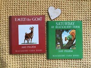 2-Vintage-Blackberry-Farm-Books-Emily-The-Goat-And-Saturday-At-Blackberry-Farm