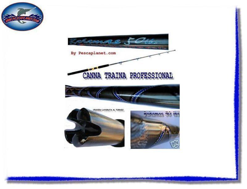 2844750 TRAINA CANNA PESCA PRO TROLLING 50 LBS CARBONIO RN