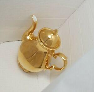Vintage STW BAVARIA GERMANY Teapot Gold