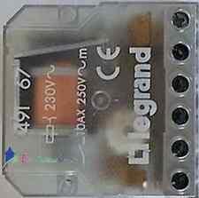 Télérupteur bipolaire encastrable 10A 230V  Legrand 49167