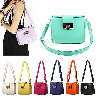 New Fashion Women Handbag Faux Leather Messenger Shoulder Cross Body Mini Bag