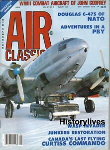 Air-Classics-Aug-85-Junkers-Wasp-Invader-Douglas-C-47-NATO-PBY-John-Godfrey