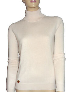 100 52 blanc Xs 50 36 Oh` Dor Pull col Luxe cachemire xxl à roulé Luxe 34 wEFAxO