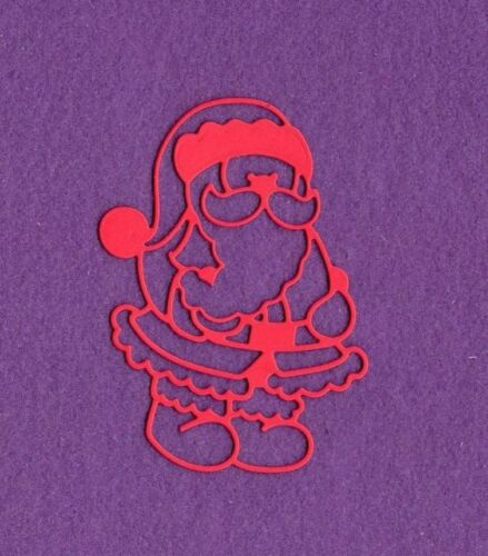 SANTA # 2 Christmas die cuts scrapbook cards