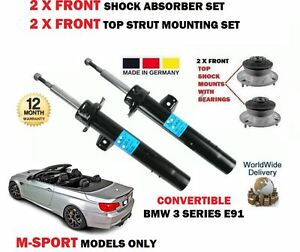 FOR BMW E93 320D 325D 330D CABRIO 2007-> 2X FRONT SHOCK ABSORBER SET + TOP MOUNT
