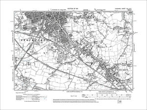 Stockport S Hazel Grove old map Cheshire 1911 19NE eBay