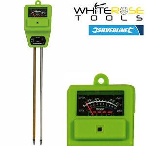 Silverline-Soil-pH-Tester-Garden-Plant-Moisture-Light-Acid-Alkaline-Solar-Power