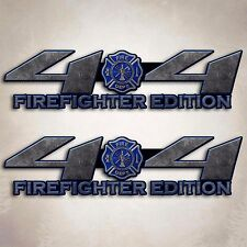 4x4 Truck Firefighter Decal Cool Blue Fire Off Road Sticker Set