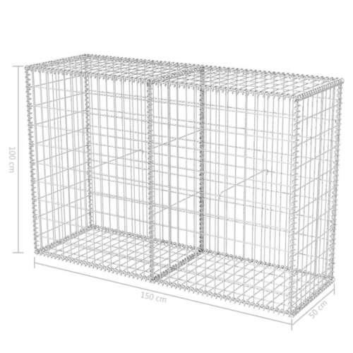 Gabion Stone Wall Galvanized Steel Basket Outdoor Garden Wire Cage Fence Fencing