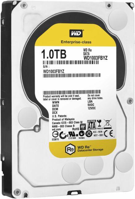 WD Re WD1003FBYZ 1TB 7200RPM 8.9cm 64MB SATA Escritorio Disco Duro HDD