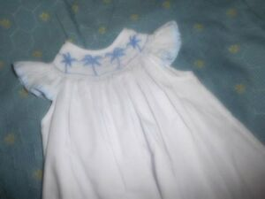 cac4f57d3c3 Image is loading nwot-Amanda-Remembered-white-smocked-palm-tree-dress-