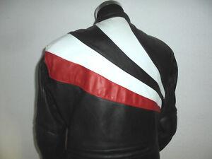 vintage-IXS-Motorradjacke-Bikerjacke-retro-90s-Lederjacke-oldschool-Gr-58-M-L