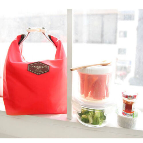 Portable Insulated Thermal Cooler Lunch Bag Picnic Carry Tote Storage Bag Case L