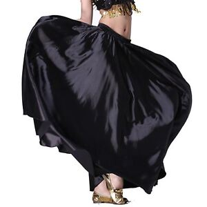 360-Circle-Swing-Skirt-Belly-Dance-Costume-Tribal-Satin-Long-Skirt-Flamenco-Jupe