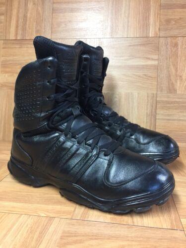 sports shoes 7df8a 4bfdf 2 Adidas Combat 2013 Gsg Swat Le Black Leather 10 Boots 9 Sz 807295 Rare  6wqt1q