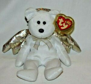 MINT with MINT TAGS TY HALO the ANGEL BEAR BEANIE BABY