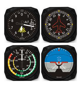 Trintec Classic 4-Piece Instrument Aviation Coaster Set - 9075