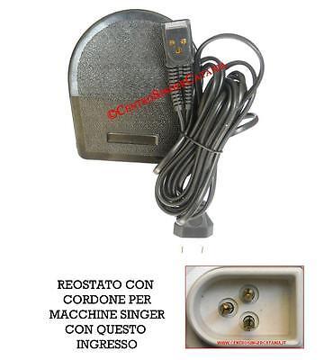 01 Reostato pedale SINGER pneumatico ad aria per Macchina macchine da  cucire