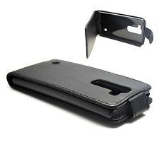 Black Folding Leather Skin Flip Cover Case For LG Spirit 4G LTE H440N H420 H422