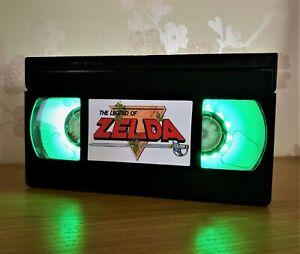 The Legend Of Zelda VHS Night Light, Nintendo, Bed Light, Desk Light, Gift, TV