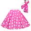 UK LADIES Rock n Roll 1950s COSTUME Polka Dot Skirt FREE SCARF 50/'s Fancy Dress