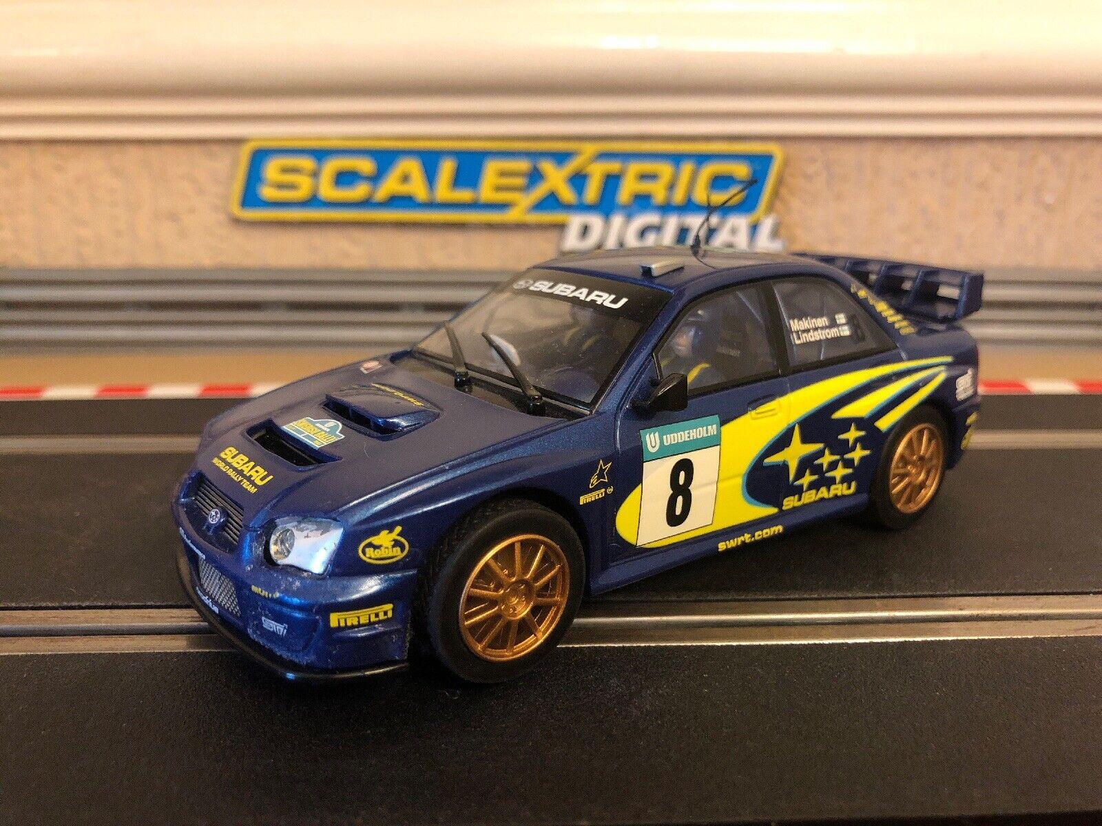 Scalcextric Digital Subaru Impreza WRC No8 Makinen & Lindstrom Mint Condition