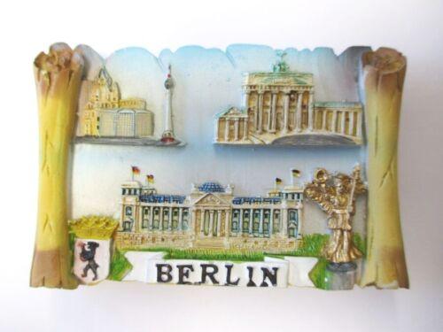 Berlin Reichstag Brand. Tor,Siegessäule Poly Magnet Souvenir Deutschland Germany