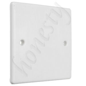 White Plug Electric Mains Spare Wall Switch Socket Single