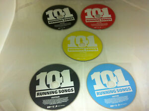 101-Running-Songs-5-DISC-Music-CD-2009-Various-Artists-DISCS-ONLY-in-Sleeves