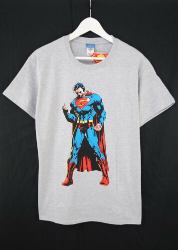 Officiel dc comics superman pose superhero heather grey tee t-shirt
