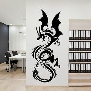 Chinese Large Dragon Animal Wall Decor Art Sticker Home Design Mural ...