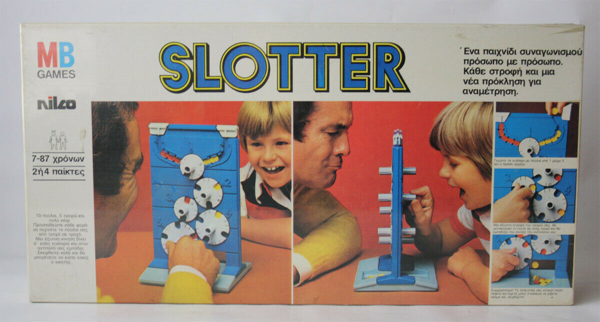 RARE VINTAGE 80'S SLOTTER BOARD GAME MB NILCO GREECE NEW SEALED