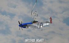 WWII Maj George Preddy P-51 Mustang USAF Christmas Ornament Airplane Single Prop