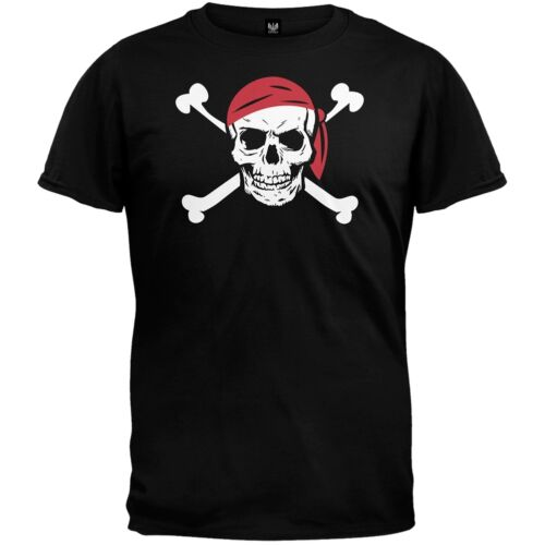Jolly Roger Pirate Costume Adult Mens T-Shirt