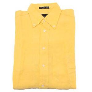 l'atteggiamento migliore 684ce eaad2 Details about 8129P camicia gialla lino GANT camicie uomo shirt men