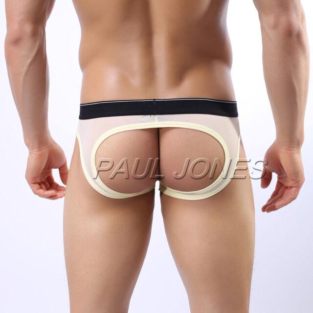 CHEAP SALE Mens Backless Underwear Jockstrap Y-Front Briefs Boxer Shorts Bottoms