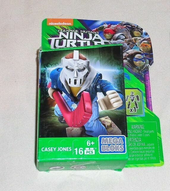 Mega Bloks CASEY JONES Teenage Mutant Ninja Turtles 16 Piece Construction NEW