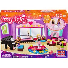 MEGA BLOKS My life as Ballet Studio 150 pcs SET 82709 Mini Dolls Dancing Friends