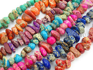 Natural-Sea-Sediment-Jasper-Gemstone-Freeformed-Nugget-Spacer-Loose-Beads-15-5-039-039