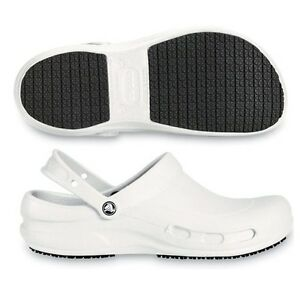 151207be9 Image is loading Crocs-Bistro-Nurse-Clogs-White-Womens-9-10-