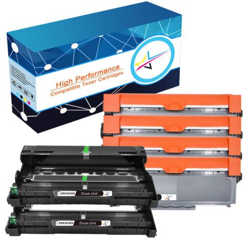 DR630 Drum or TN660 Toner Drum Lot for Brother HL-L2300D HL-L2380DW MFC-2700DW
