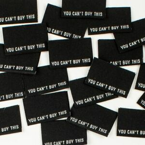 YOU-CAN-039-T-BUY-THIS-Sew-In-Woven-Tags-Clothing-Labels-pack-of-8-by-KATM
