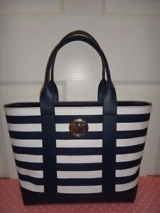 Image Is Loading Michael Kors Womens Mk Fulton Navy Blue White