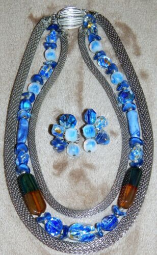 VINTAGE ALICE CAVINESS SET NECKLACE AND EARRINGS C
