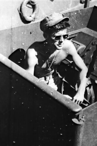 Kennedy aboard the PT-109 during World War II 1943 John F New 5x7 Photo: Lt