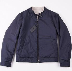 NWT-3495-ARMANI-BLACK-LABEL-Reversible-Water-Repellent-Tech-Cashmere-Jacket-XL