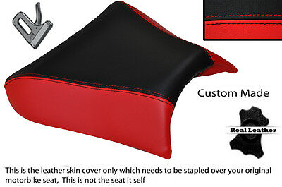 RED & BLACK CUSTOM FITS LAVERDA 650 668 FLAT FRONT LEATHER SEAT COVER