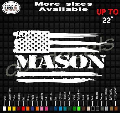 Brick Hammer Masonry Bricklayer Stone Mason Car Window Vinyl Decal Sticker 10373