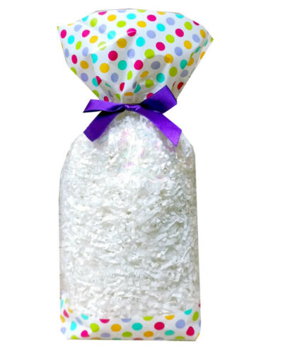 Cello Sweet Bags Easter Baby Shower Block Bottom Clear Cello Treat Bag x 50